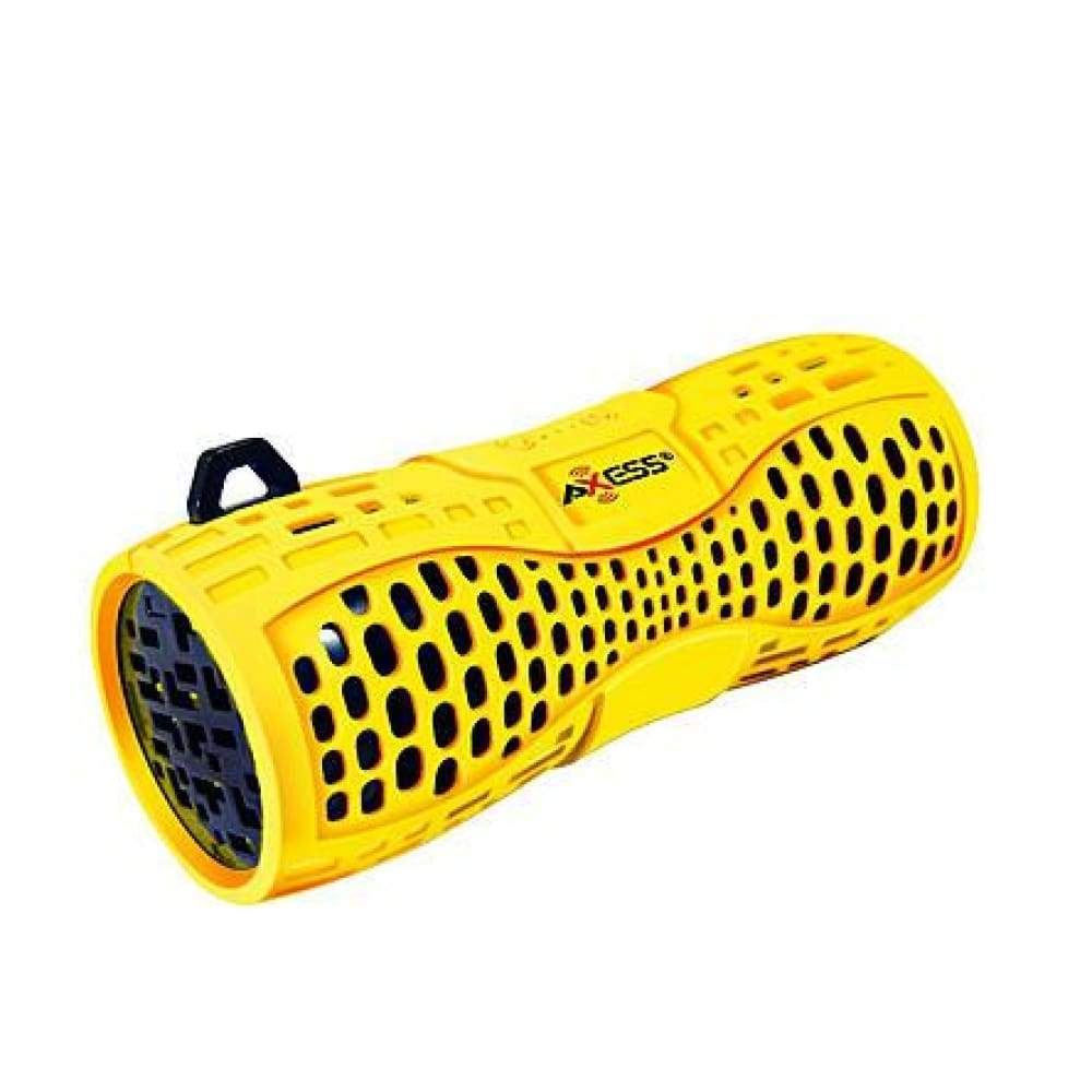 Axess 97092212M Portable Water-Resistant Bluetooth Speaker with Speakerphone-YELLOW/BLACK