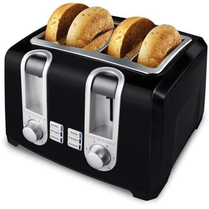 BLACK+DECKER 4-Slice Toaster Extra Lift Black T4560B