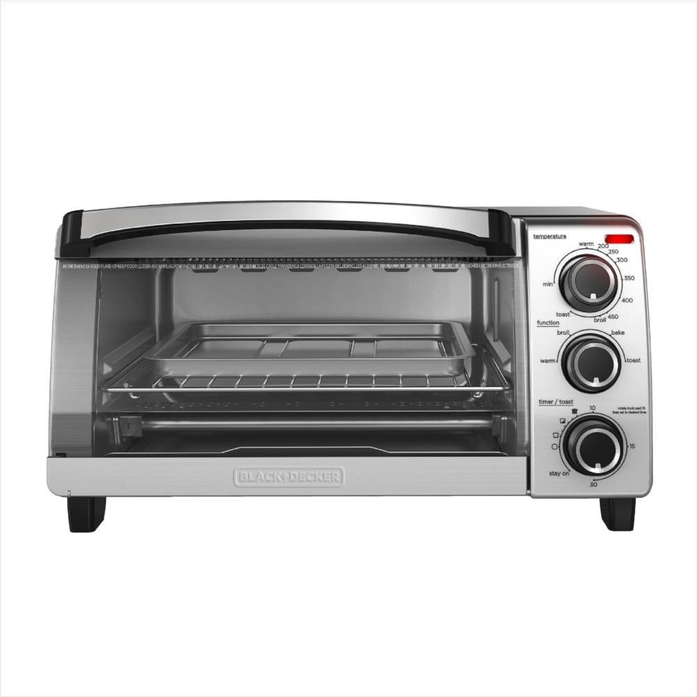 Red Steel + DECKER Naturalis Convection toaster oven TO1755SB