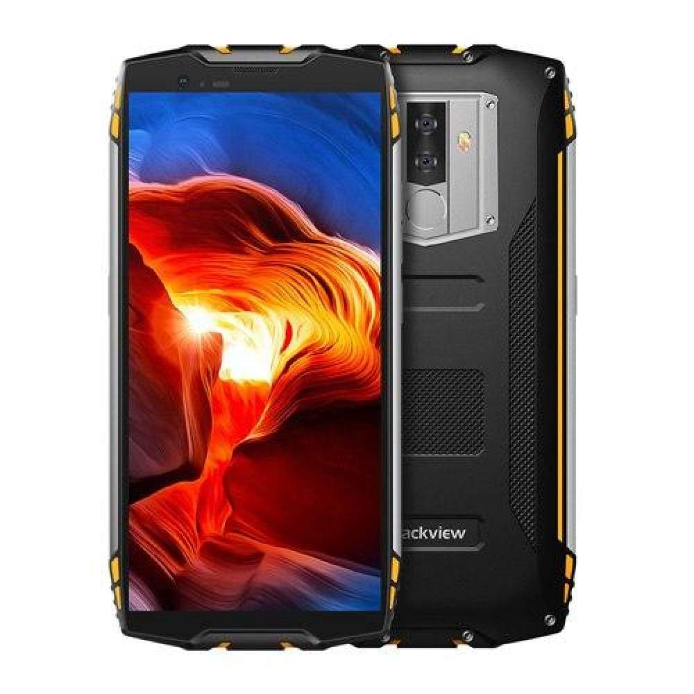 Blackview BV6800 Pro Android 8.0 Mobile Phone 5.7 MT6750T Octa Core 4GB+64GB 6580mAh Waterproof NFC Wireless charge Smartphone - Yellow /
