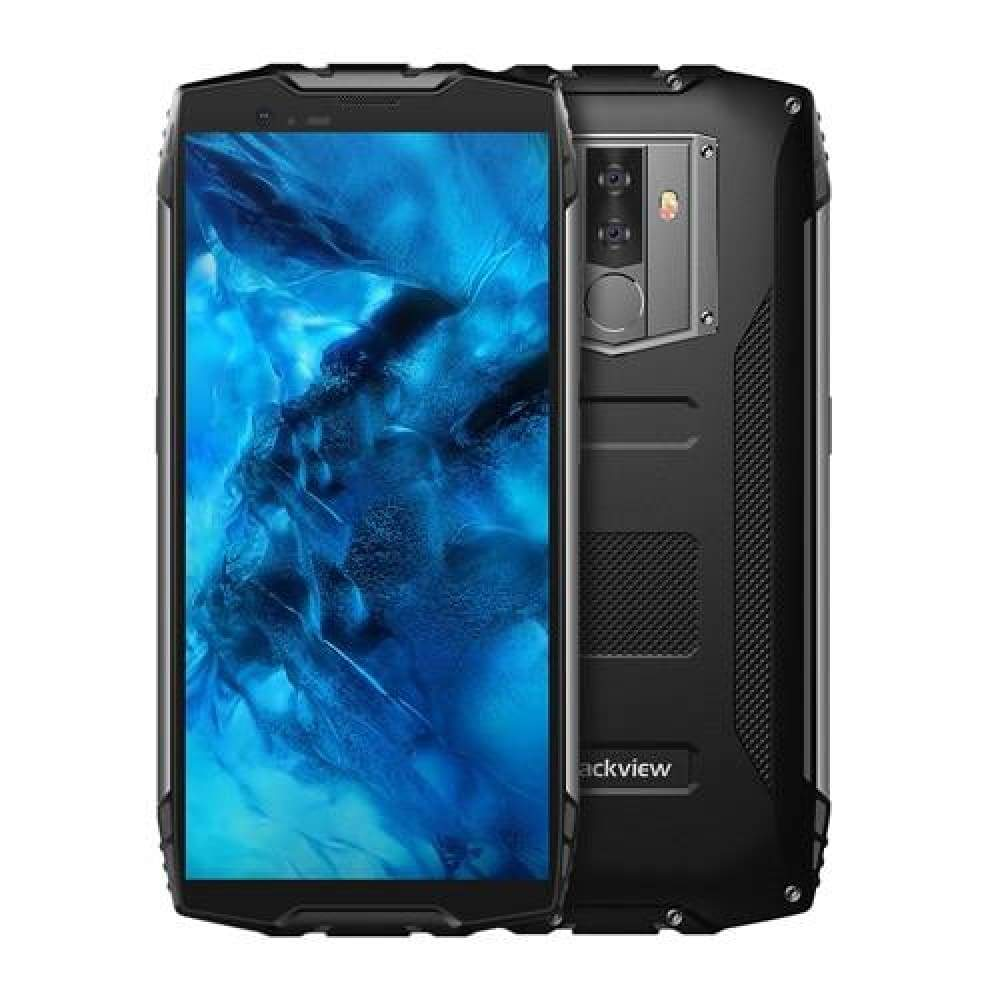 Blackview BV6800 Pro Android 8.0 Mobile Phone 5.7 MT6750T Octa Core 4GB+64GB 6580mAh Waterproof NFC Wireless charge Smartphone - Black / add