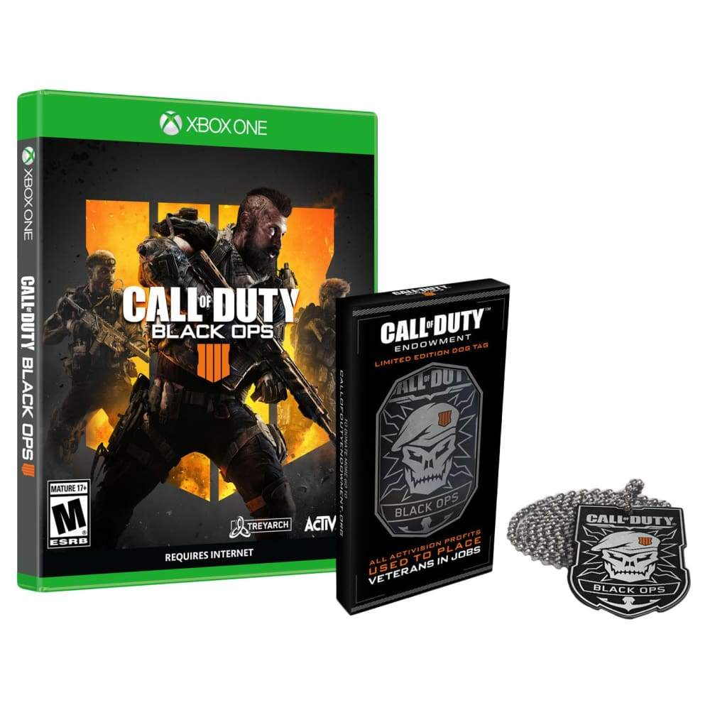 Call of Duty: Black Ops 4 Xbox One Video Game with Limited Edition Dog TagCall Tag