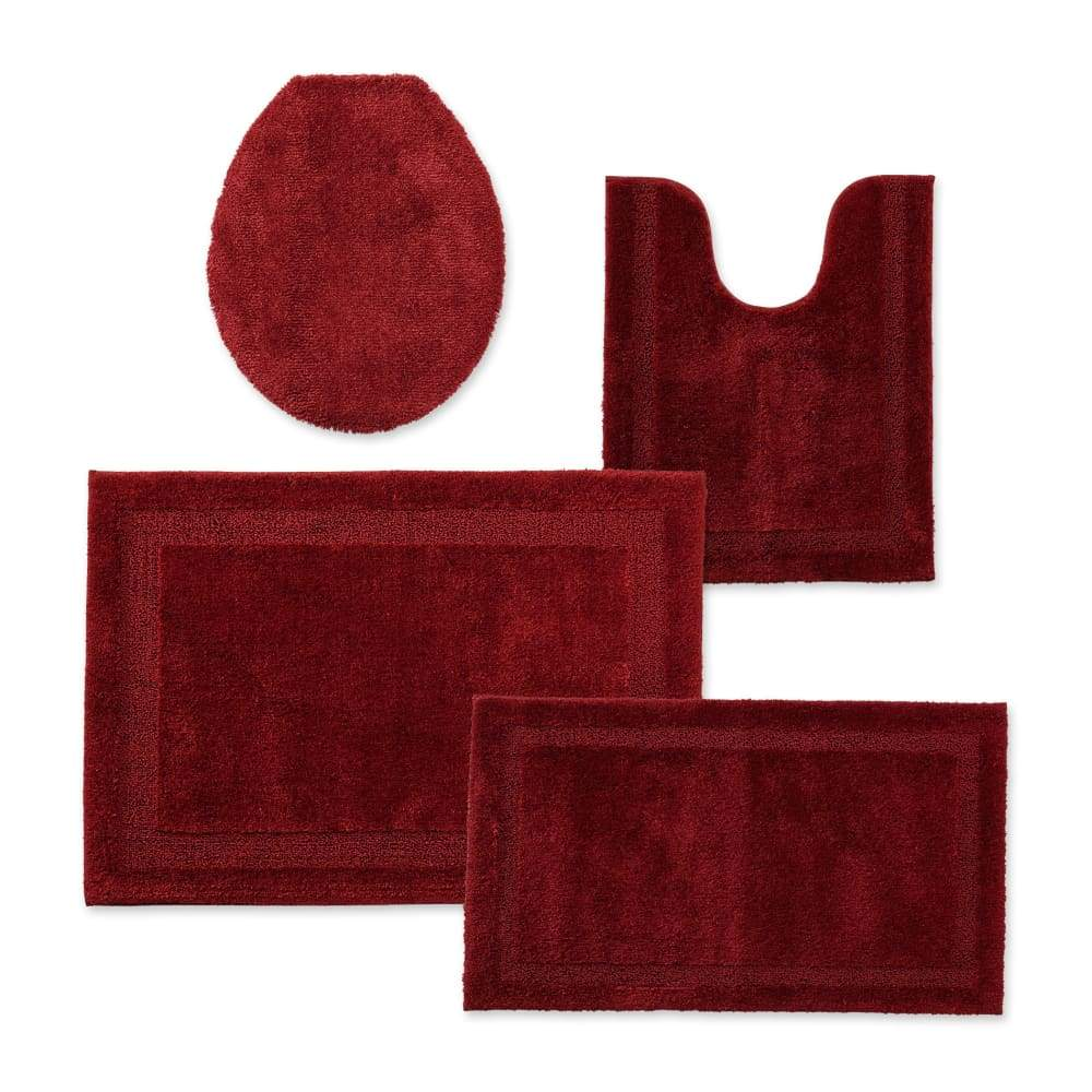 Cannon Bath Rug Universal Lid or Contour - 25.5 in. x 37 / Wine