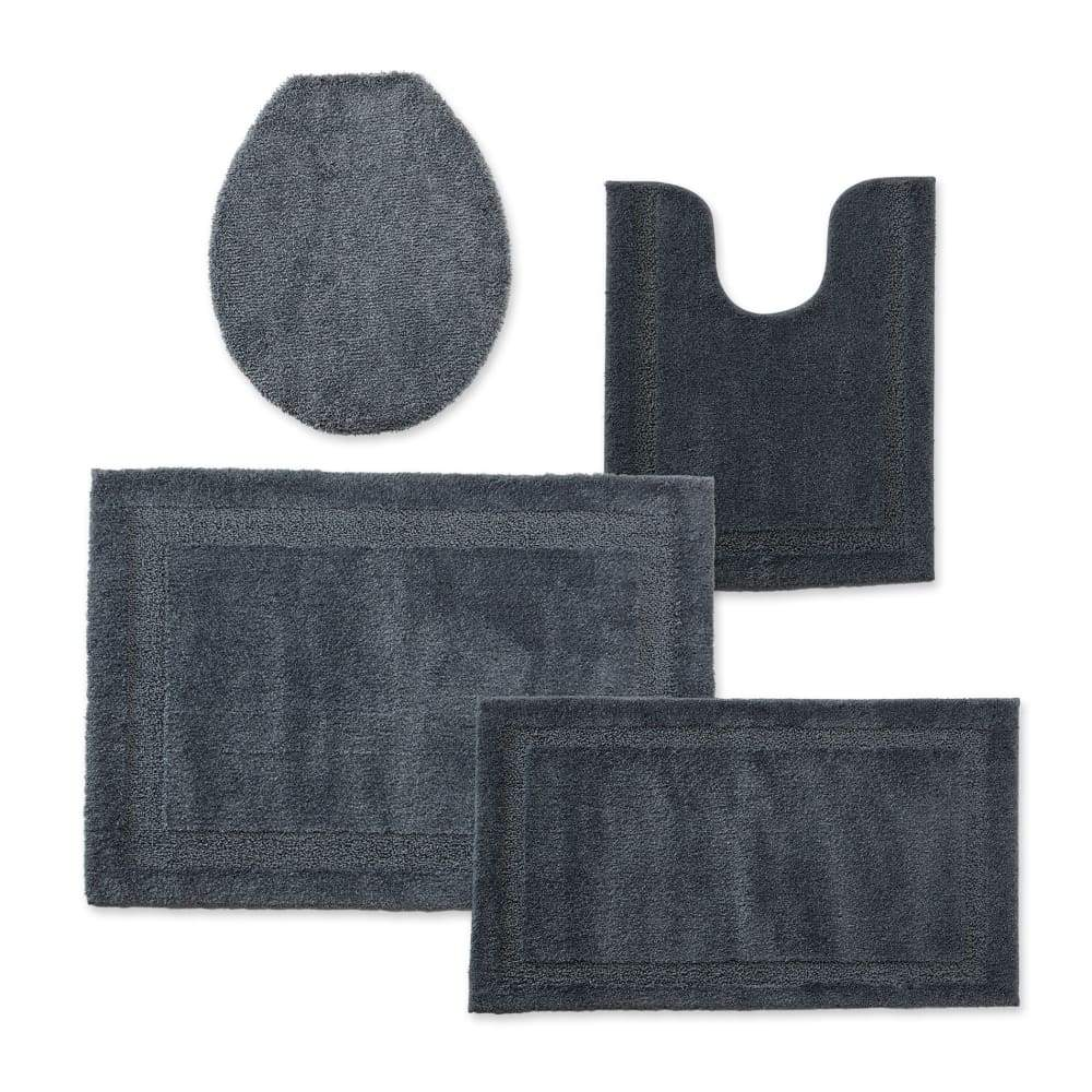 Cannon Bath Rug Universal Lid or Contour - 25.5 in. x 37 / Dark Gray