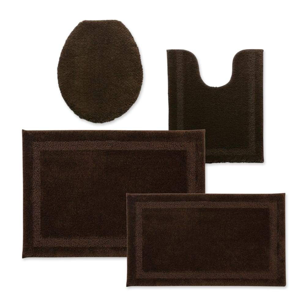 Cannon Bath Rug Universal Lid or Contour - 25.5 in. x 37 / Chocolate