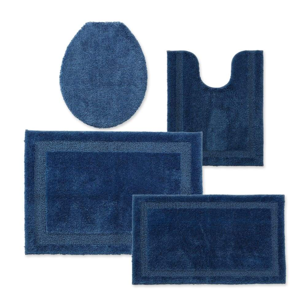 Cannon Bath Rug Universal Lid or Contour - 25.5 in. x 37 / Ink Blue