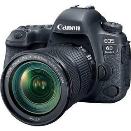 Canon EOS 6D Mark II Wi-Fi Digital SLR Camera + EF 24-105mm IS STM Lens