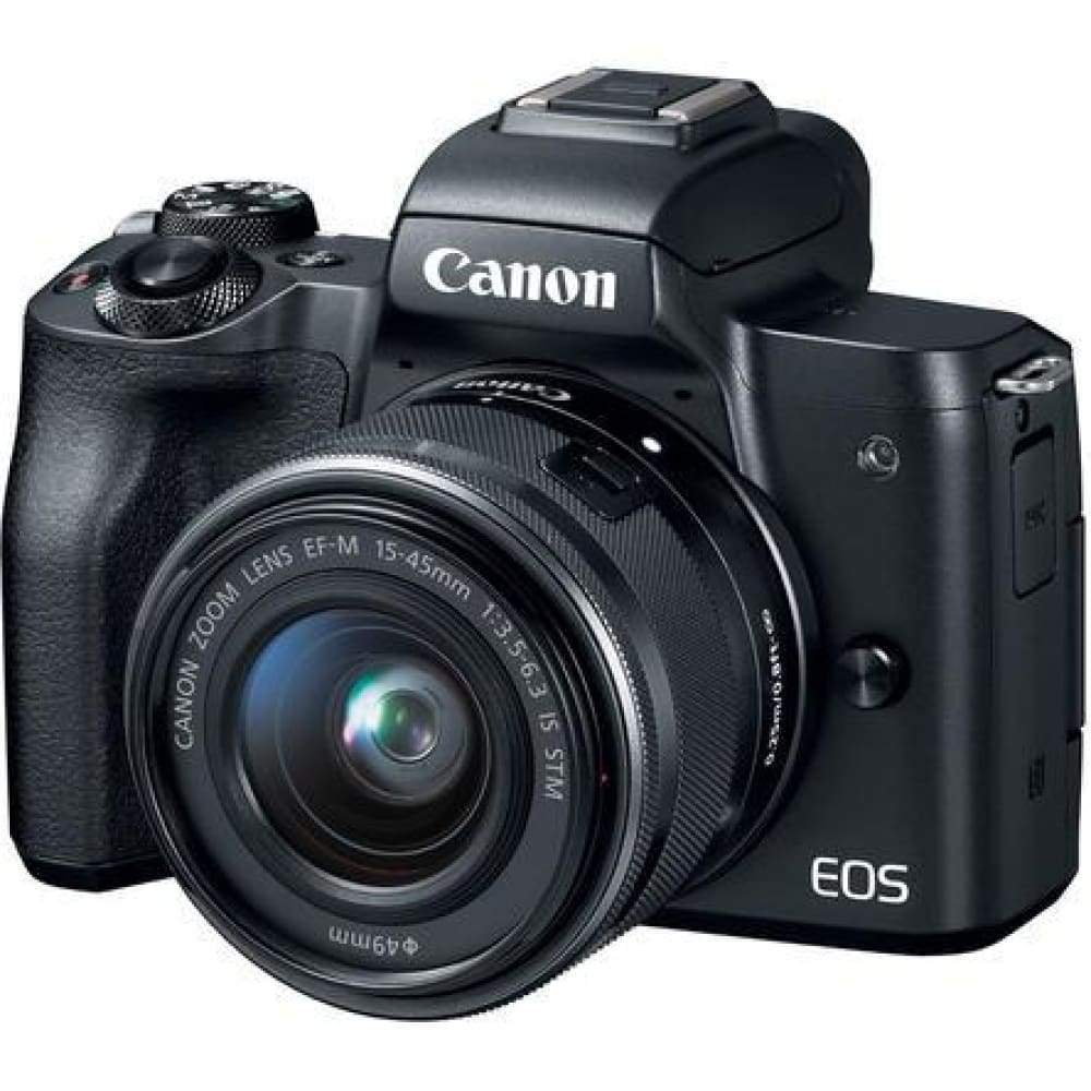 Canon EOS M50 Wi-Fi Digital ILC Camera + EF-M 15-45mm IS STM Lens (Black)