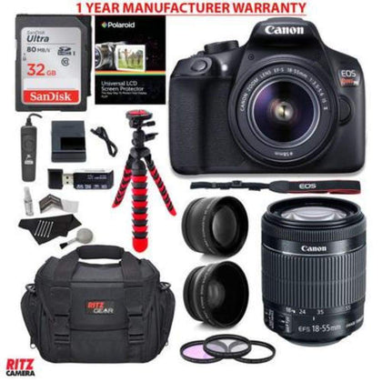 Canon EOS Rebel T6 DSLR Camera + EF-S 18-55mm Lens WARRANTY Accessory Bundle