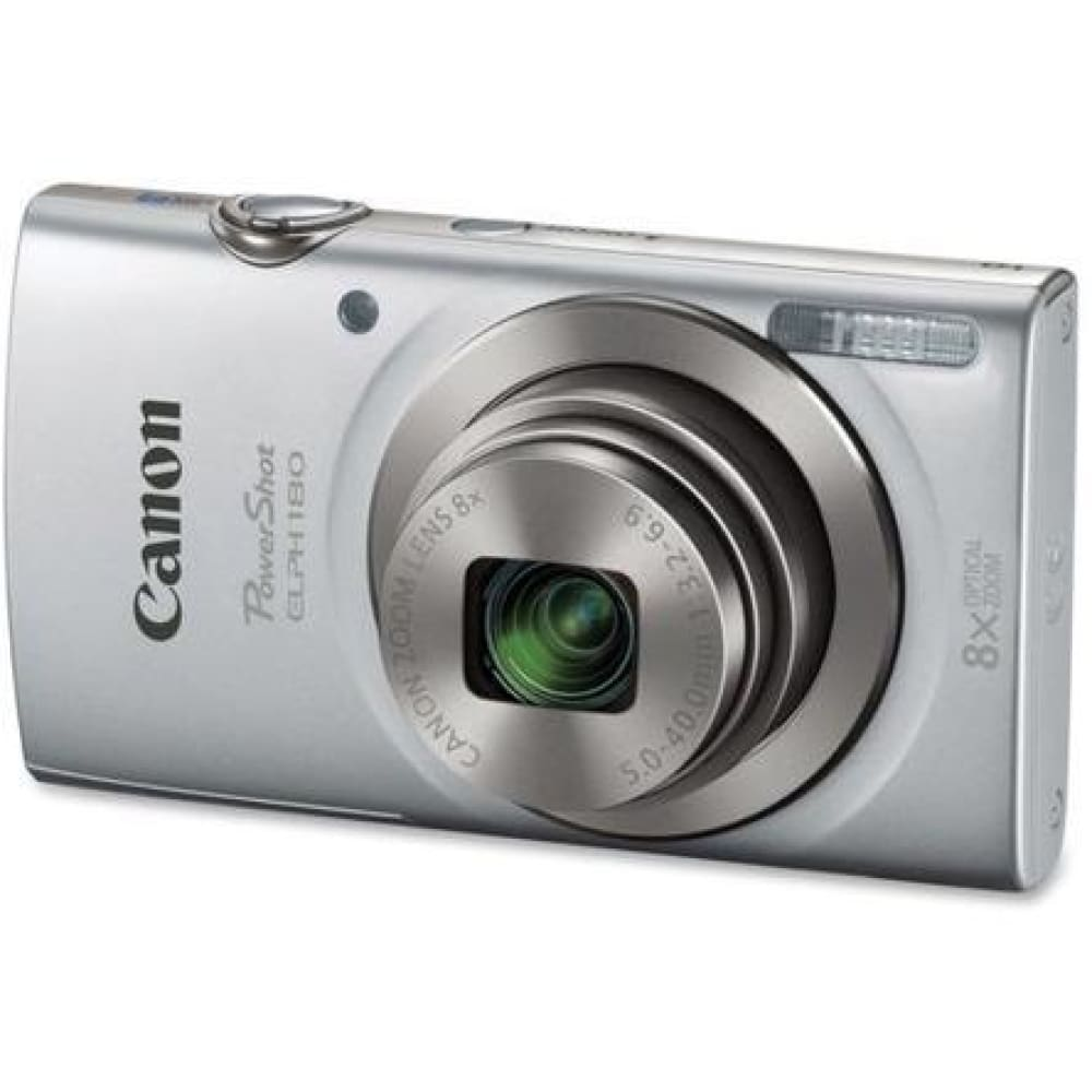 Canon Powershot 180 20 Megapixel Compact Camera - Silver - 2.7 Lcd - (1093c001)