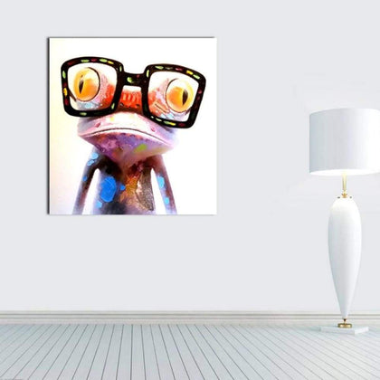Colorful Fogs with Glasses Oil Painting Spray Size S