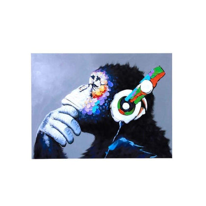 Colorful Musical Gorilla Oil Painting Spray Size S
