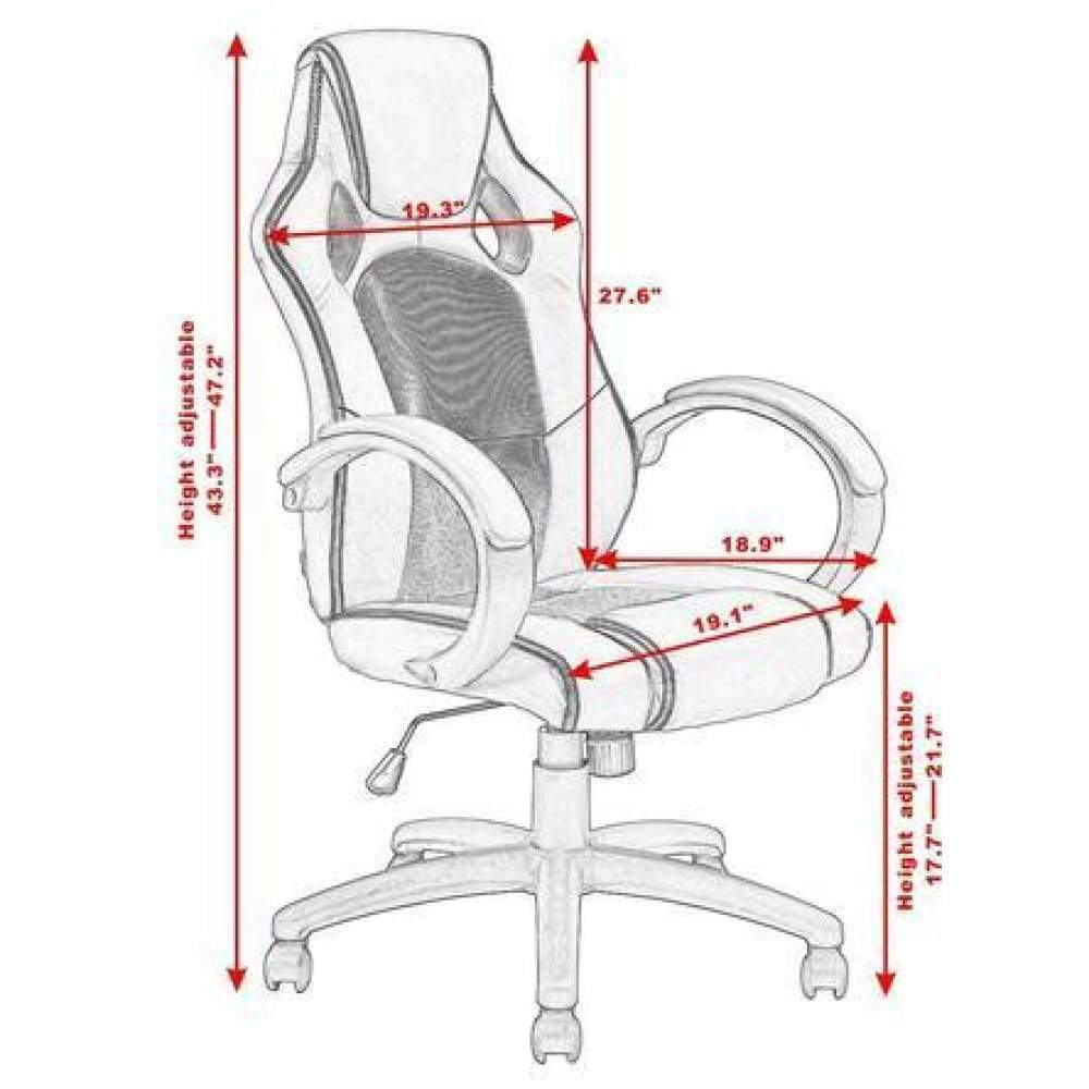 Costway High Back Racing Chair Bucket Seat Office Desk Gaming Swivel Executive New