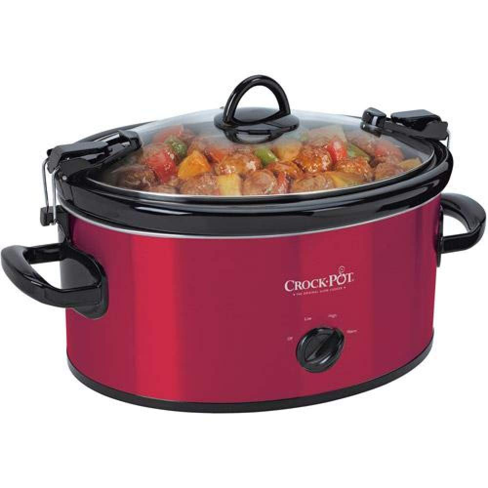 Crock-Pot Cook & Carry Manual Slow Cooker 6-Quart (SCCPVL600-R)