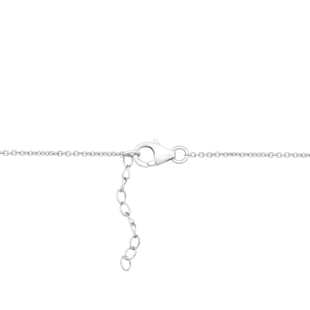 Crystaluxe Irregular Drop Necklace with Swarovski Crystals in Sterling Silver