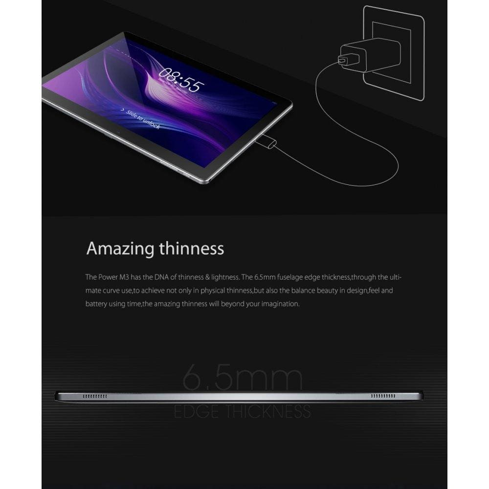 CUBE Power M3 10.1-Inch Android 7.0 MT6753 Octa Core 2GB RAM 32GB ROM 4G Tablet PC-US Plug