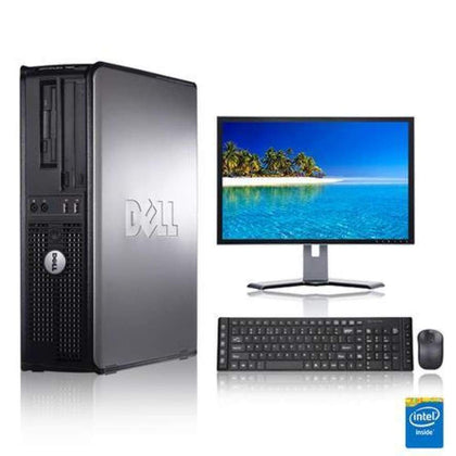 Dell Optiplex 2.3 GHz Core 2 Duo PC 4GB 250 GB HDD Windows 10 Home x64 19 Monitor USB Mouse & Keyboard