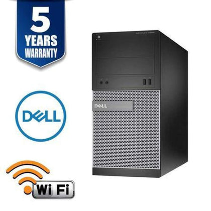 DELL OptiPlex 3020 SFF I5 4570 3.2 GHZ 8GB 500GB DVD WIN10 PRO 5YR WTY USB WIFI- Refurbished
