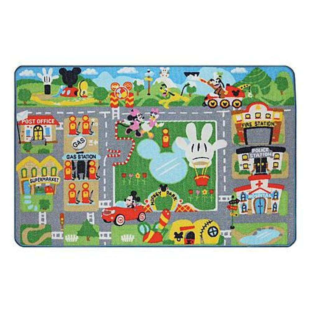 Disney Mickey Mouse Game Rug w/ Toy