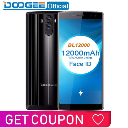 DOOGEE BL12000 Smartphone 12000mAh Fast charge 6.018:9 FHD+ MTK6750T Octa Core 4GB RAM 32GB ROM Quad Camera 16.0MP Android 7.1