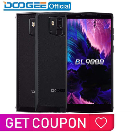DOOGEE BL9000 Smartphone 6GB 64GB Helio P23 Octa Core 5V5A Flash Charge 9000mAh Wireless 5.99 FHD+ Android 8.1
