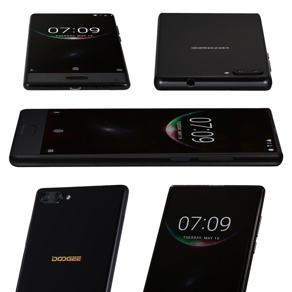 DOOGEE MIX 6GB+64GB bezel-less Smartphone Dual Camera 5.5 AMOLED MTK Helio P25 Octa Core mobile phones Android 7 In Stock