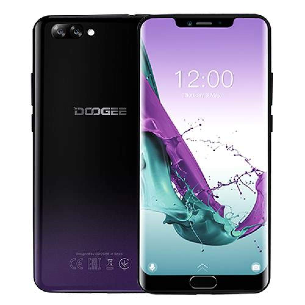 DOOGEE Y7 Plus CellPhone MTK6757 Octa-Core 2.5GHz 6GB RAM 64GB ROM 6.18inch 1080*2246 Screen 16.0MP+13.0MP 5080mAh Android 8.1 - Phantom