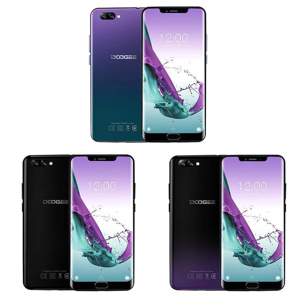 DOOGEE Y7 Plus CellPhone MTK6757 Octa-Core 2.5GHz 6GB RAM 64GB ROM 6.18inch 1080*2246 Screen 16.0MP+13.0MP 5080mAh Android 8.1