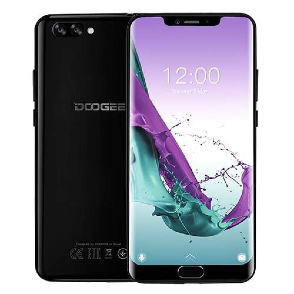 DOOGEE Y7 Plus CellPhone MTK6757 Octa-Core 2.5GHz 6GB RAM 64GB ROM 6.18inch 1080*2246 Screen 16.0MP+13.0MP 5080mAh Android 8.1 - Obsidian