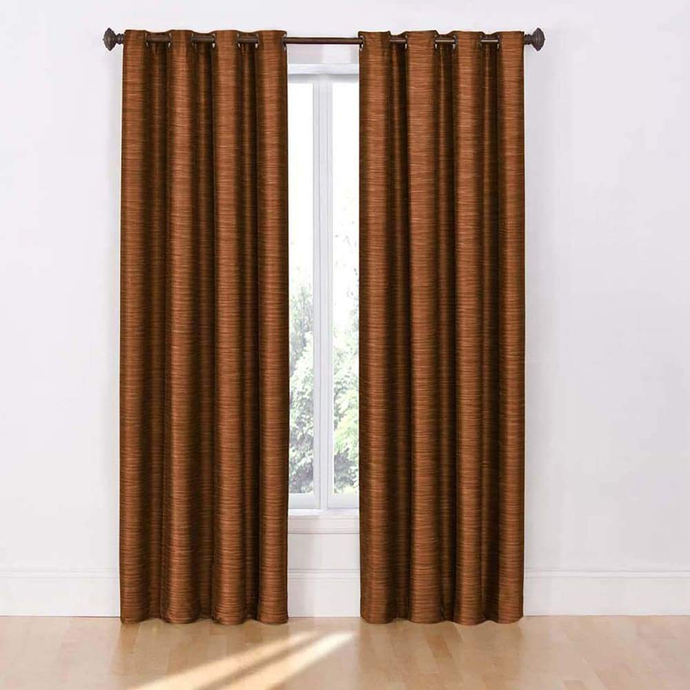 eclipse 2-pack Dylan Thermalayer Blackout Window Curtains - Rust / 52X84