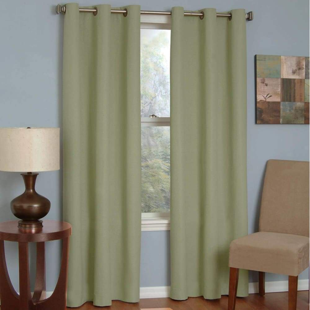 eclipse Thermaback Blackout 1-Panel Microfiber Window Curtain - Moss / 42X84