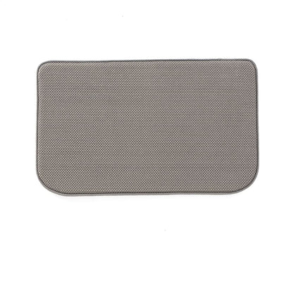 Essential Home 20 x 32 Solid Memory Foam Rug - Gray