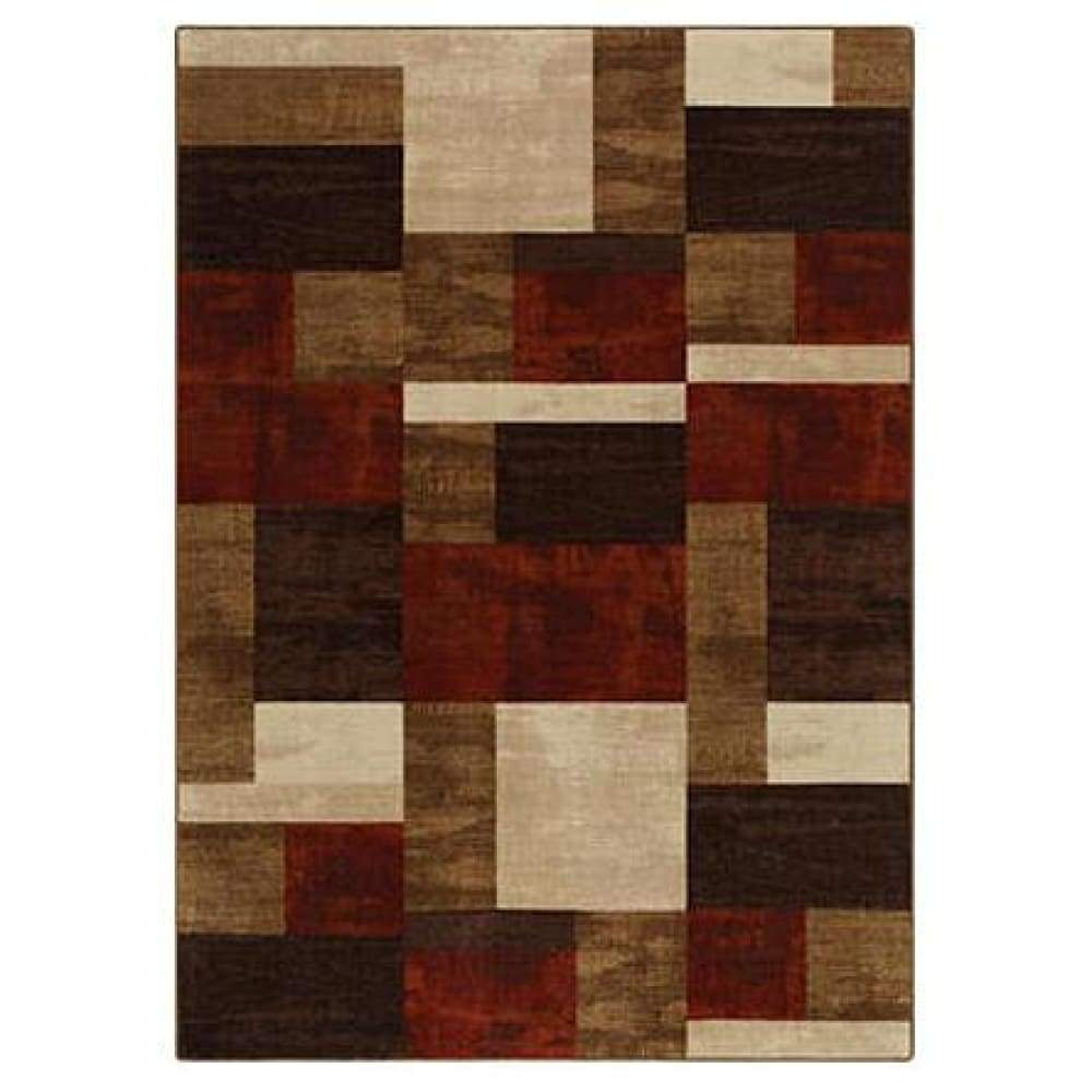 Essential Home Gallery Rug Collection - Modern Geo Chocolate - 20 x 34 / Brown