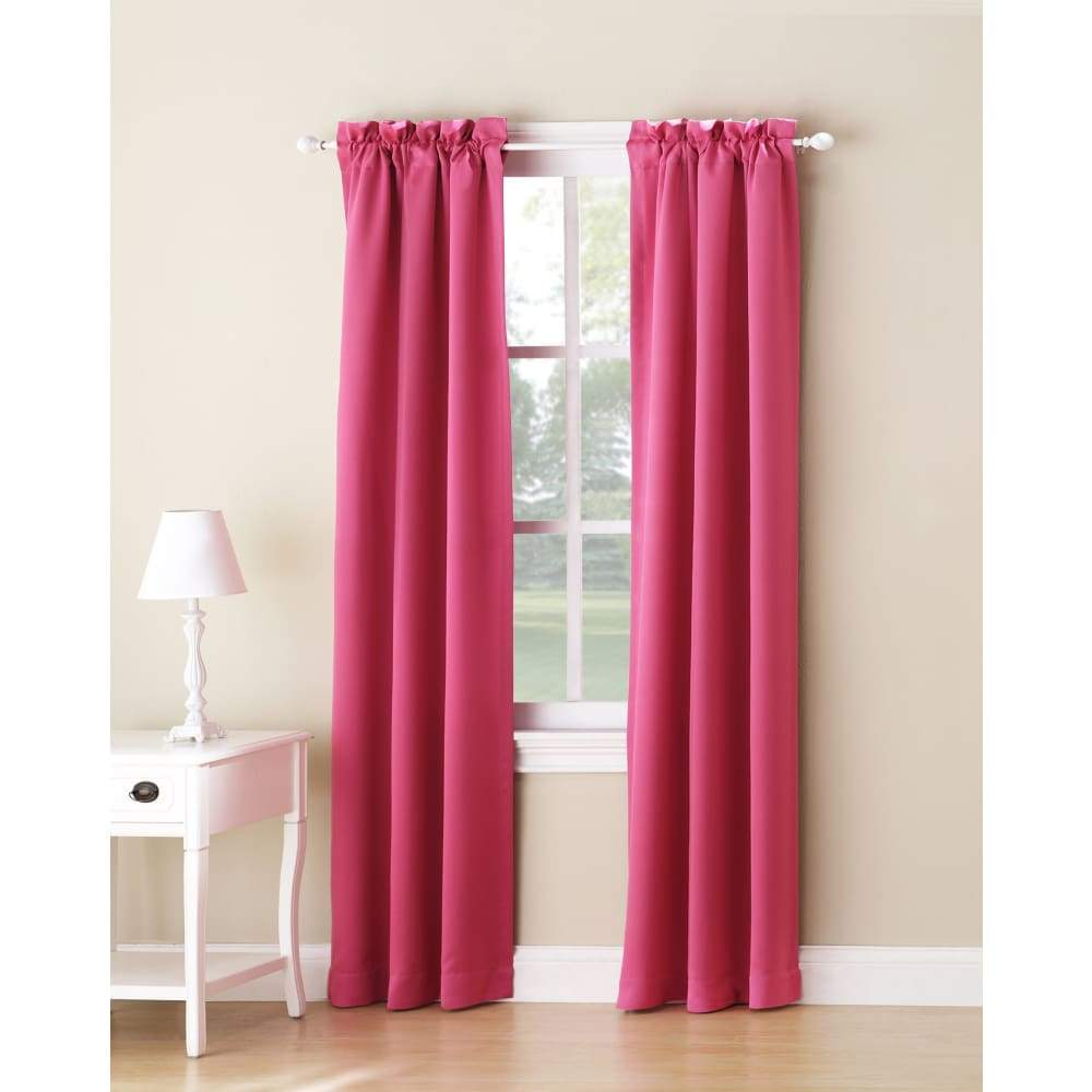 Essential Home Logan 2pk Room Darkening Window Panels - 63 in. / 26 / Pink