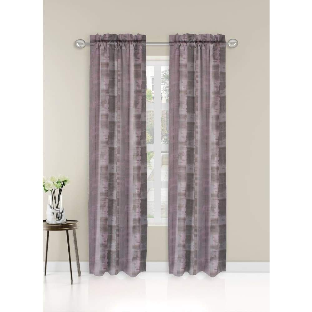 Essential Home Logan 2pk Room Darkening Window Panels - 63 in. / 26 / Blush Print