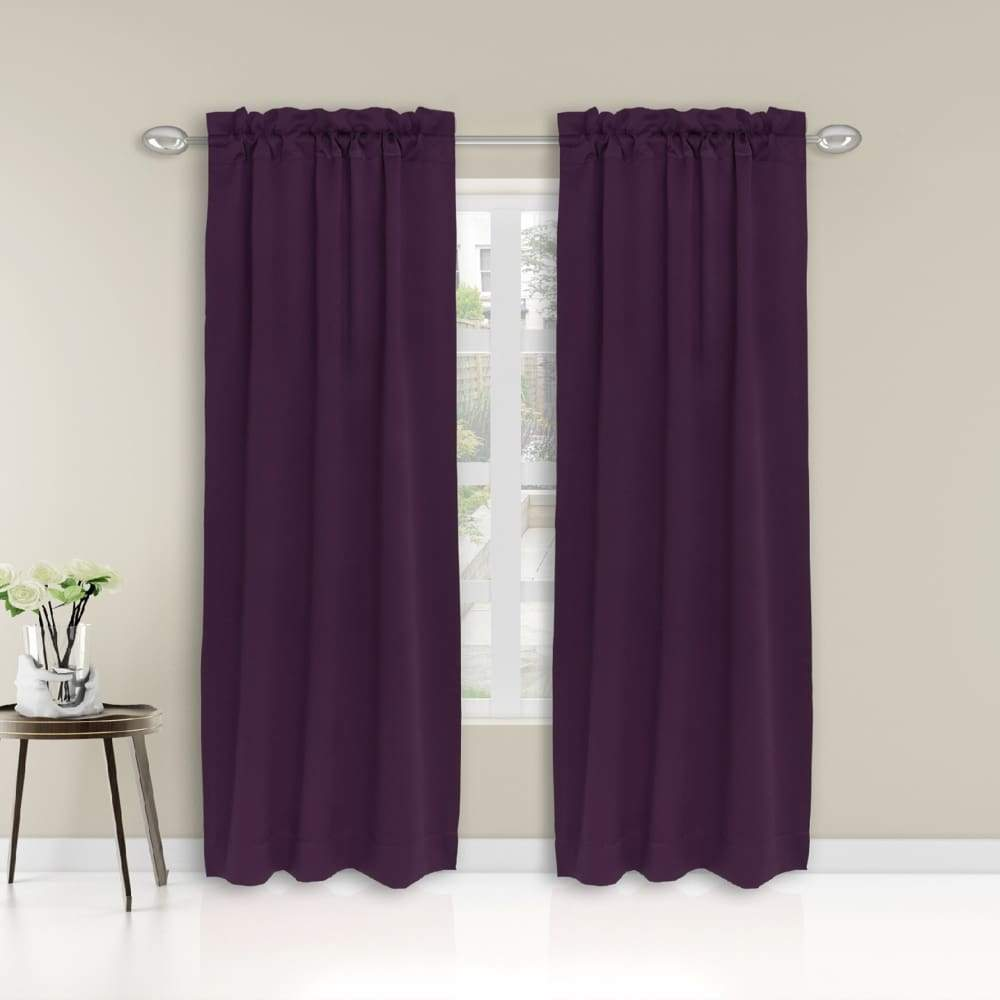 Essential Home Logan 2pk Room Darkening Window Panels - 63 in. / 26 / Violet