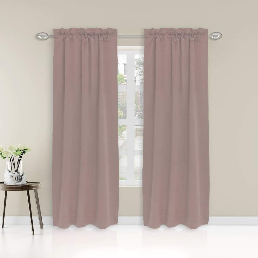 Essential Home Logan 2pk Room Darkening Window Panels - 63 in. / 26 / Blush