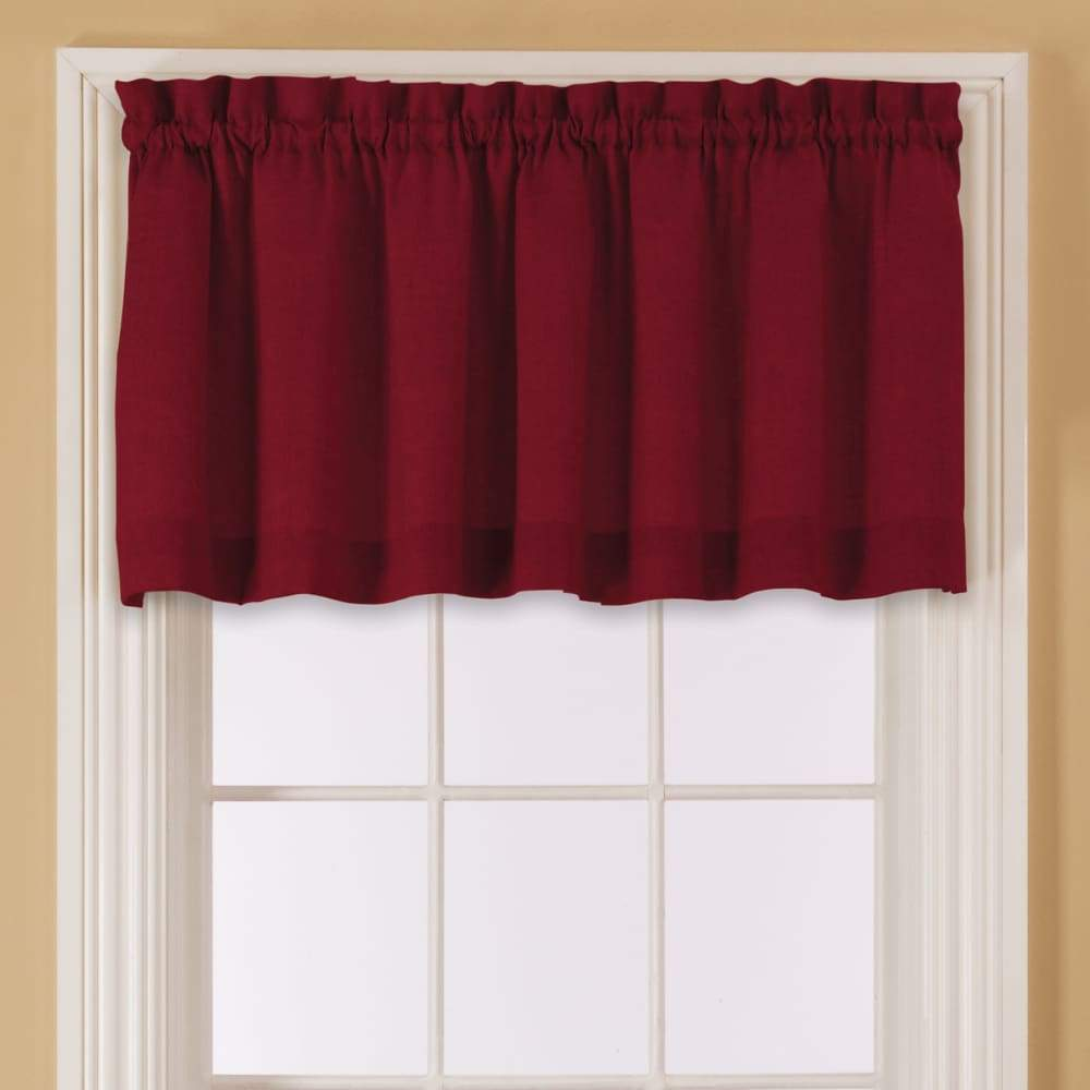 Essential Home Mix and Match Solid Window Valance 60 x 16 - in. / Red