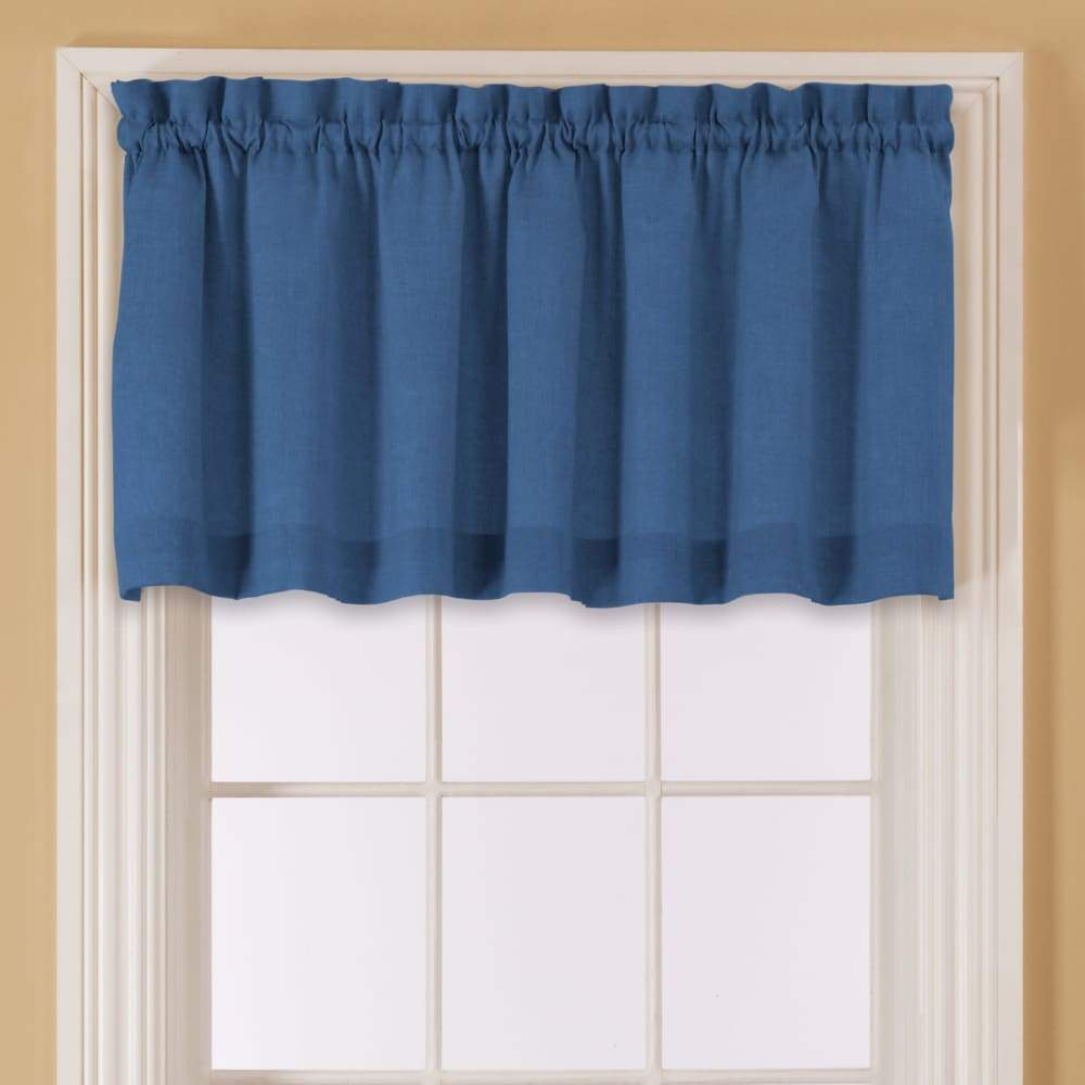 Essential Home Mix and Match Solid Window Valance 60 x 16 - in. / Blue