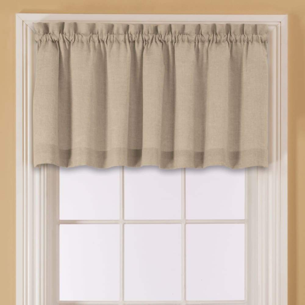 Essential Home Mix and Match Solid Window Valance 60 x 16 - in. / Sand