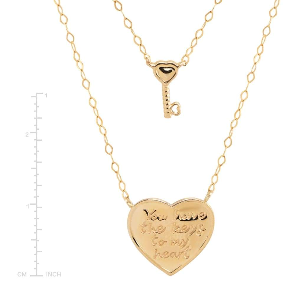 Eternity Gold Key to My Heart Layer Necklace in 14K 18
