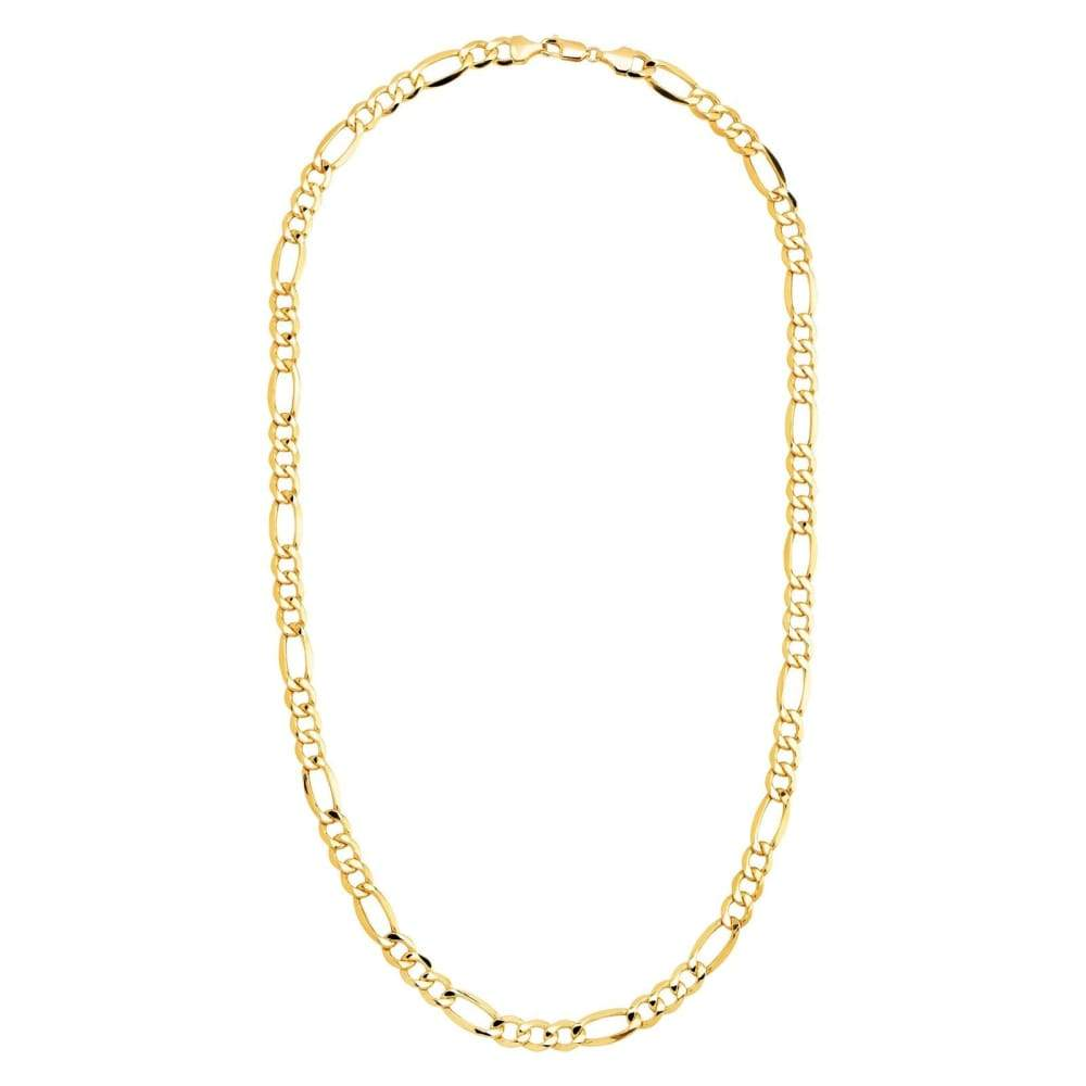 Eternity Gold Mens Classic Figaro Chain Link Necklace in 10K 22