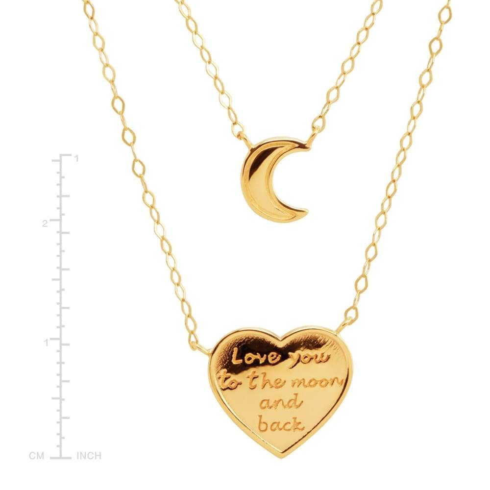 Eternity Gold To the Moon & Back Layer Necklace in 14K 18