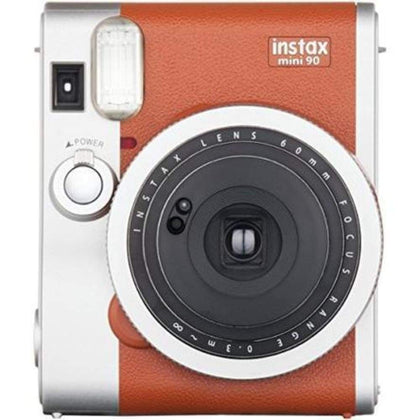 FUJIFILM 16423917 InstaxR Mini 90 Classic Instant Camera Brown