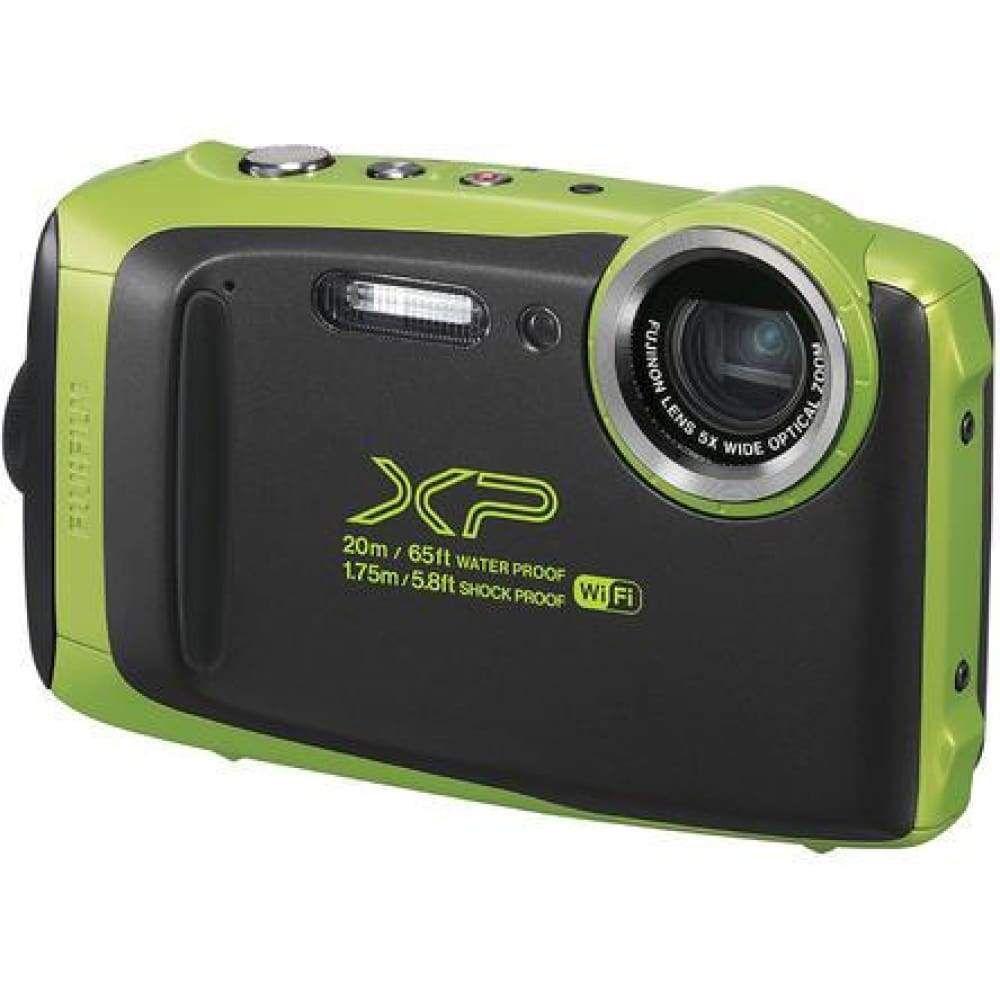 Fujifilm FinePix XP130 Shock + Waterproof Wi-Fi Digital Camera (Lime)