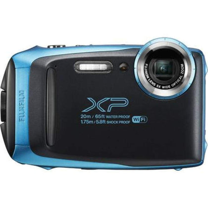 Fujifilm FinePix XP130 Shock + Waterproof Wi-Fi Digital Camera (Sky Blue)
