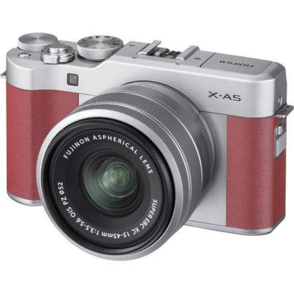 Fujifilm X-A5 Wi-Fi Digital Camera + 15-45mm XC Lens (Pink)