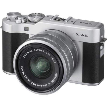 Fujifilm X-A5 Wi-Fi Digital Camera + 15-45mm XC Lens (Silver)