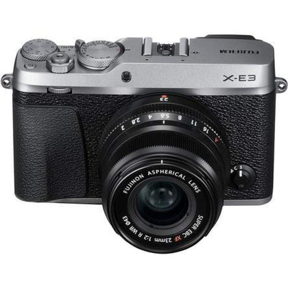 Fujifilm X-E3 4K Digital Camera + 23mm f/2 XF Lens (Silver)