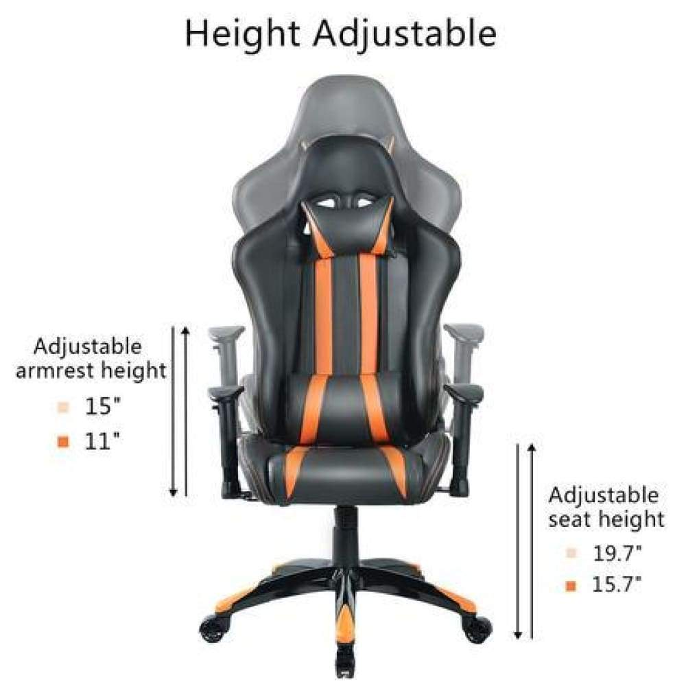 Goplus Racing High Back Reclining Gaming Chair Ergonomic Computer Desk Office New